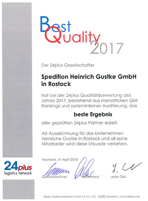 24plus Best Quality Award 2017